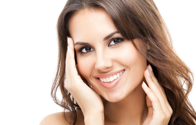 день симпатичные женские улыбки стоковые фото дальше