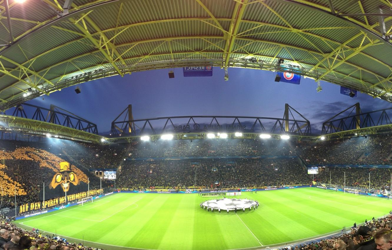 Фото обои football, Champions League, UEFA, dortmund, borussia, signal iduna park