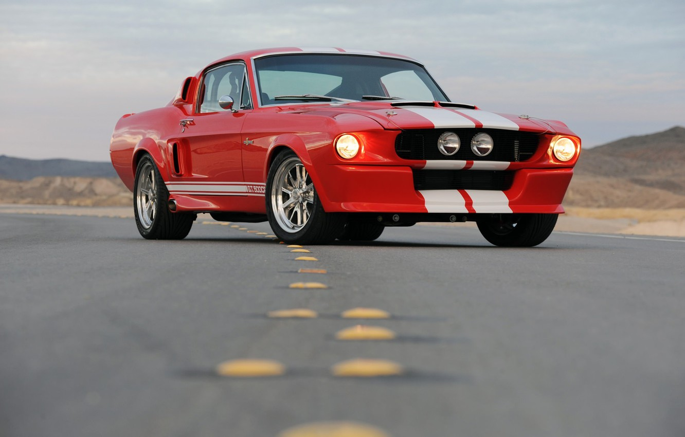 Фото обои mustang, ford, shelby, cobra, 1967, gt500cr
