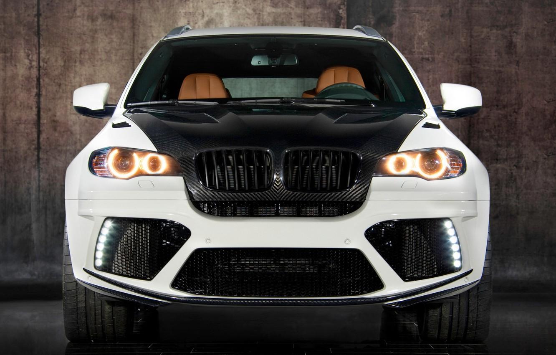 Фото обои белый, бмв, BMW, white, карбон, кроссовер, Mansory