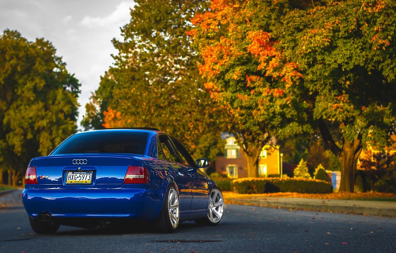 Фото обои Audi, ауди, синяя, blue
