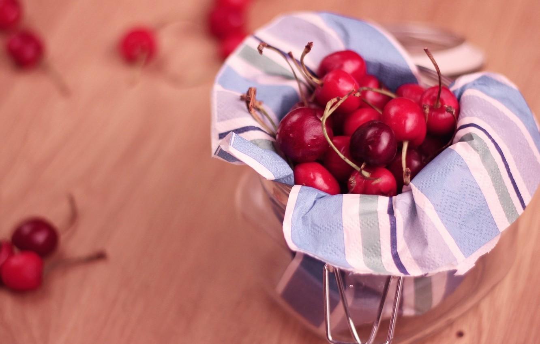 Фото обои красный, вишня, малина, фон, widescreen, обои, еда, ягода, wallpaper, широкоформатные, вафли, background, сладкое, полноэкранные, HD ...