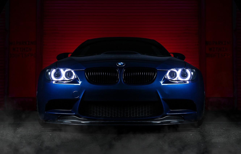 Фото обои бмв, BMW, blue, front, E92
