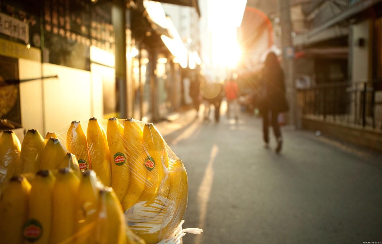 Фото обои свет, улица, бананы