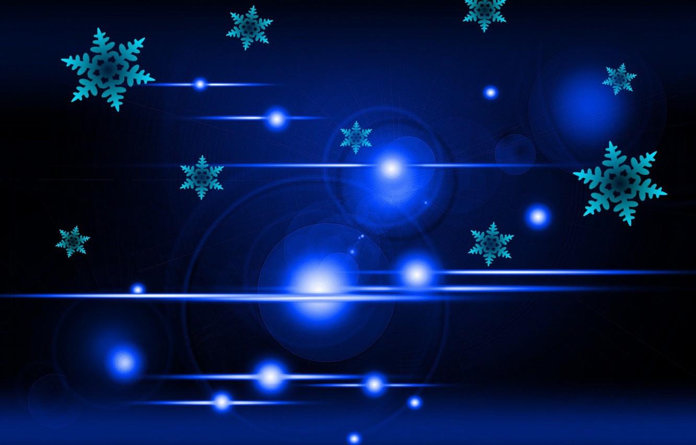Фото обои свет, снежинки, фон, боке