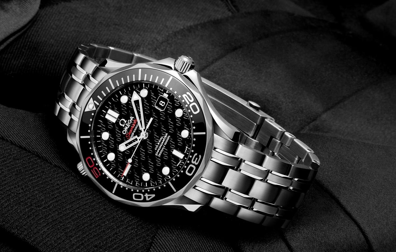 Фото обои Часы, 007, omega, james bond, seamaster