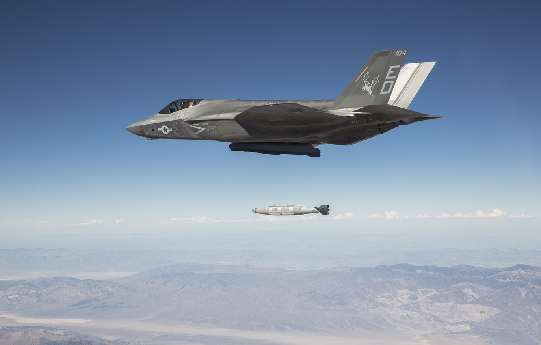 Обои F-35, lightning ii, истребитель, бомбардировщик, суша. Авиация foto 13