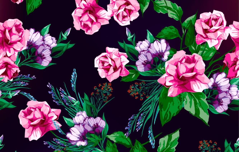 Фото обои цветы, фон, розы, текстура, rose, принт, pattern, floral