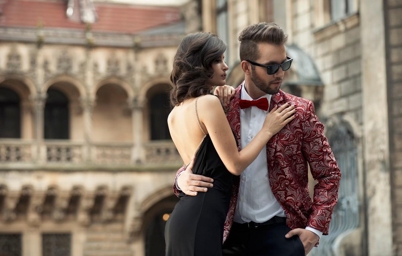 Фото обои город, пара, young couple in love