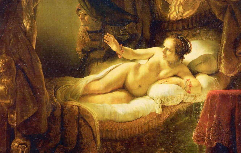 Обои Аристотель с Бюстом Гомера, портрет, картина, Рембрандт ван Рейн. Разное foto 12