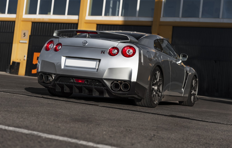Фото обои серый, Nissan, GT-R, ниссан