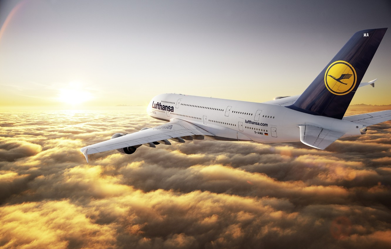 Обои Облака, лайнер, Самолёт. Авиация foto 15