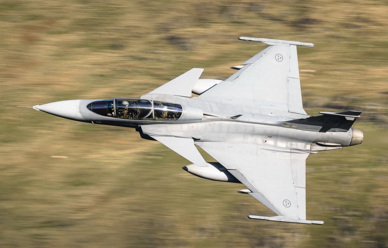 Фото обои Saab JAS 39 Gripen, истребитель четвёртого поколения, Многоцелевой истребитель