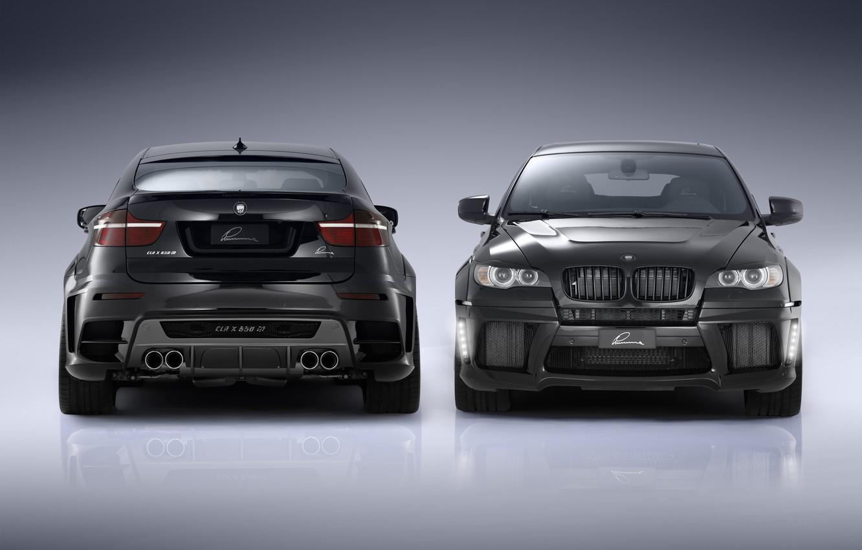 Фото обои черный, автомобиль, tuning, bmw x6, CLA X650 M