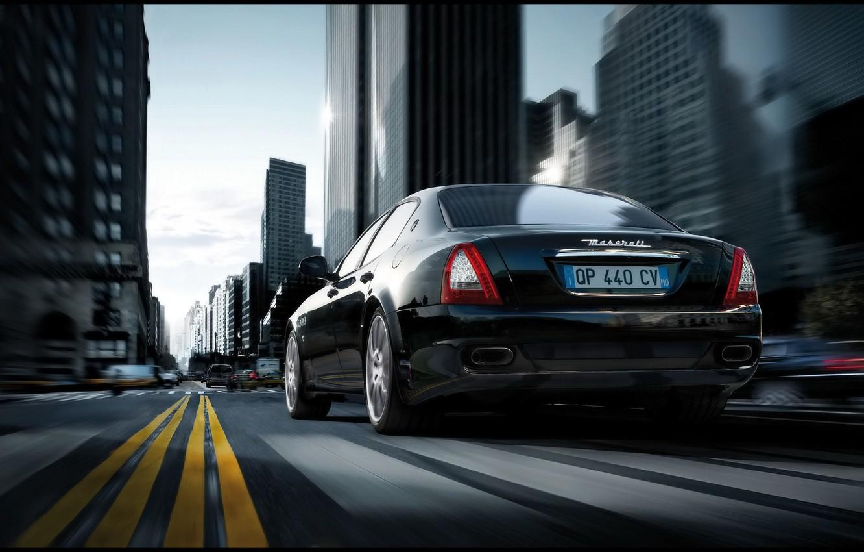 Фото обои дорога, Maserati, Quattroporte Sport GT S