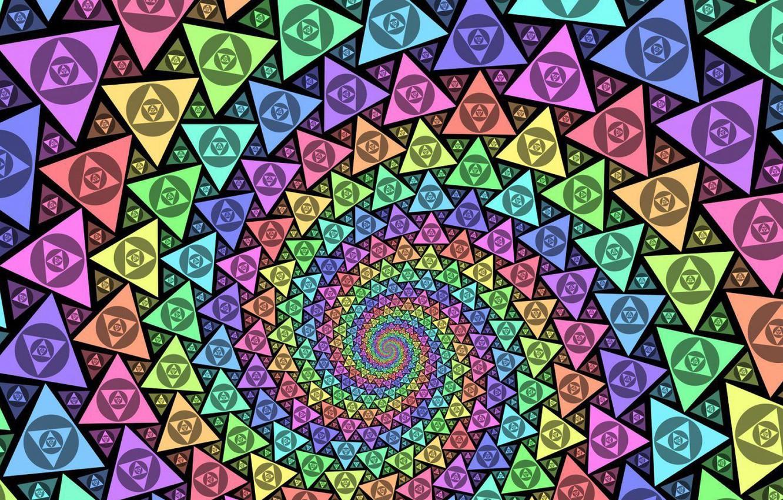 Обои Цвет, спираль. Абстракции foto 7