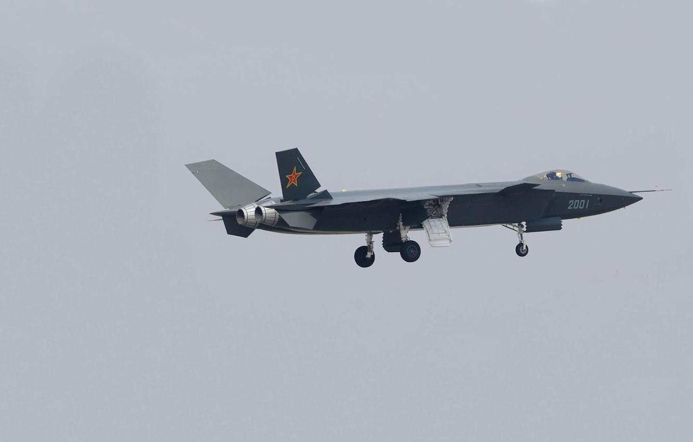Фото обои фото, прототип, самолёт, шасси, Chengdu J-20