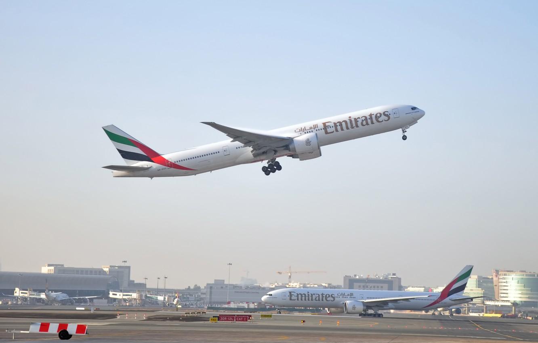 Обои 777, пассажирский, Самолёт, авиалайнер, боинг, boeing, 300. Авиация foto 9