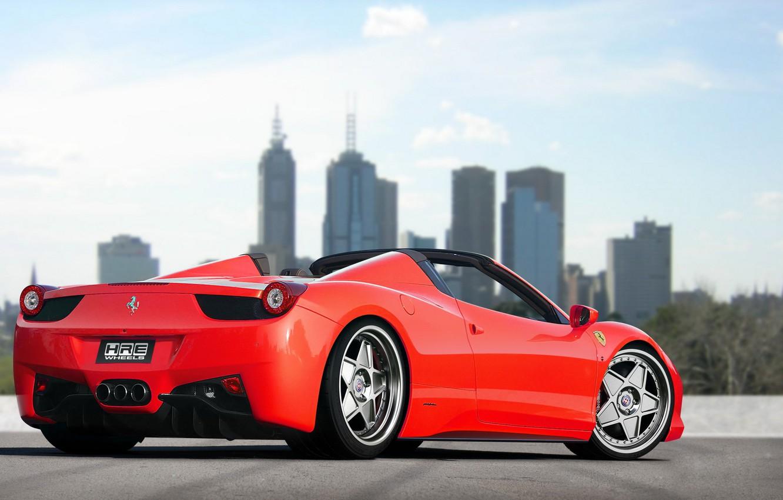 Фото обои тюнинг, автомобиль, феррари, красная, ferrari 458 spider