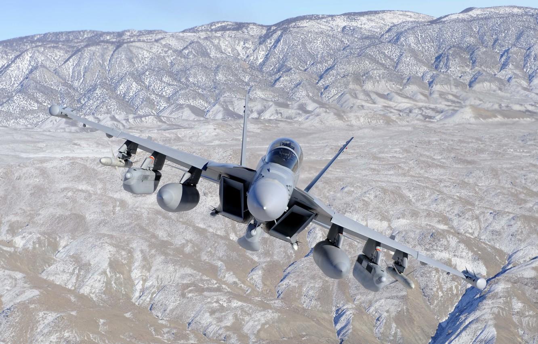 Обои Boeing ea-18, growler, Самолёт, палубный. Авиация foto 13