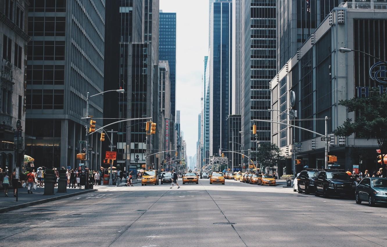 Обои new york city, машины, америка, улица, сша. Города foto 14
