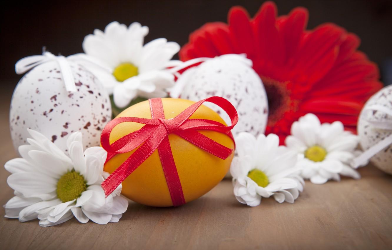 Фото обои цветы, праздник, яйцо, пасха