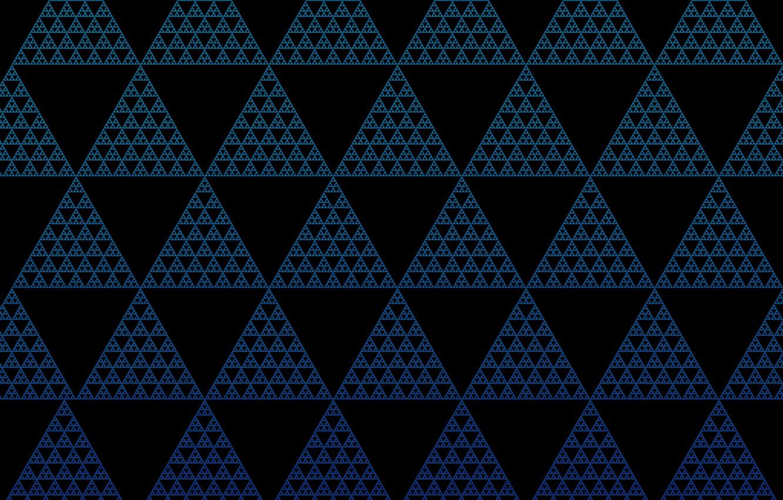 Фото обои частицы, треугольники, иллюзия, трифорс