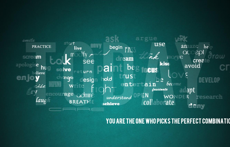Фото обои буквы, креатив, минимализм, слова