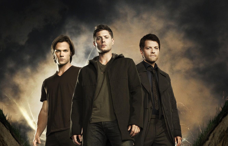 Фото обои актер, Supernatural, Jensen Ackles, Сверхъестественное, сэм, дин, Дженсен Эклс, Castiel, Миша Коллинз, Misha Collins, jared …