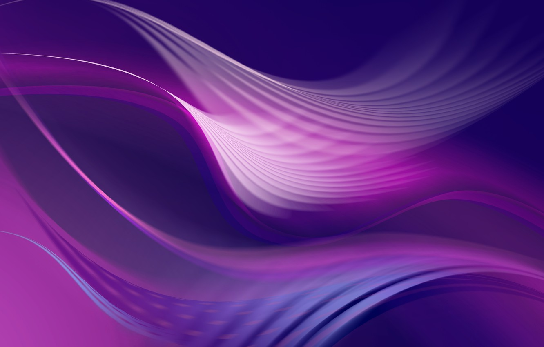Фото обои Поток, Волны, Энергия, Abstract purple