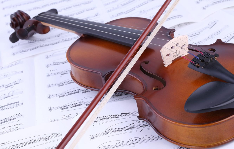 Фото обои ноты, музыка, скрипка, книга