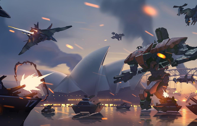 Фото обои Robot, Game, Blizzard Entertainment, Overwatch