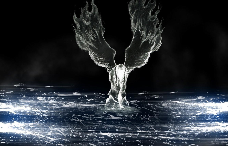 Фото обои любовь, Ангел, боль