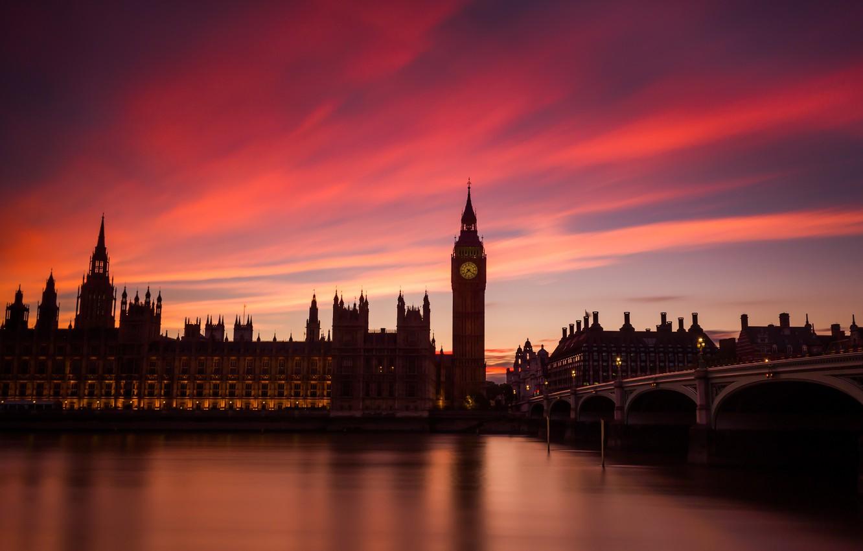 Обои парламент, темза, башня. Города foto 7