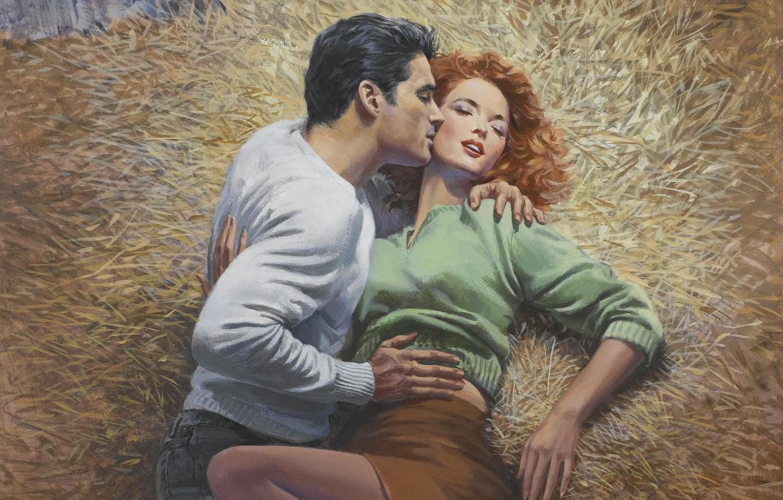 Фото обои рисунок, живопись, художник-иллюстратор, Barnett Plotkin