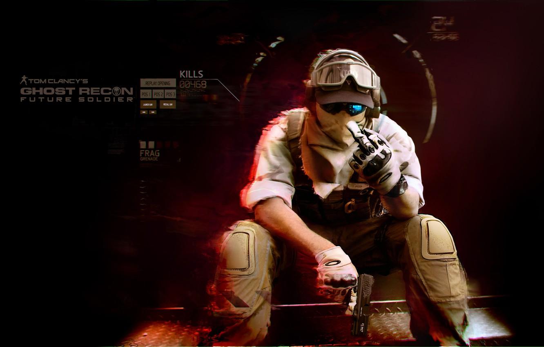 Фото обои будущее, солдат, future soldier, Tom Clancy's, Ghost recon