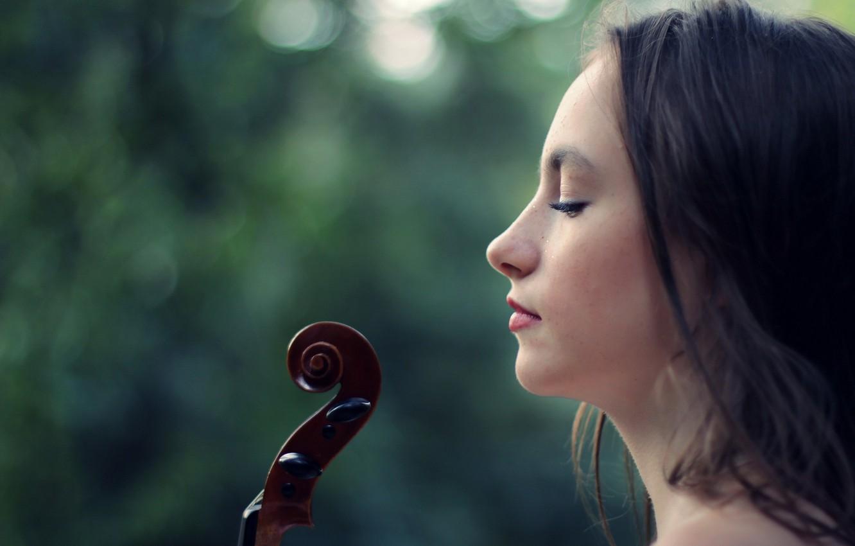 Фото обои violin, portrait, conceptual