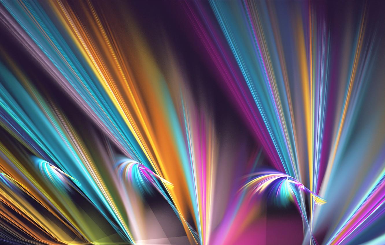 Обои свет, лучи, Цвет, фрактал, узор. Абстракции foto 11