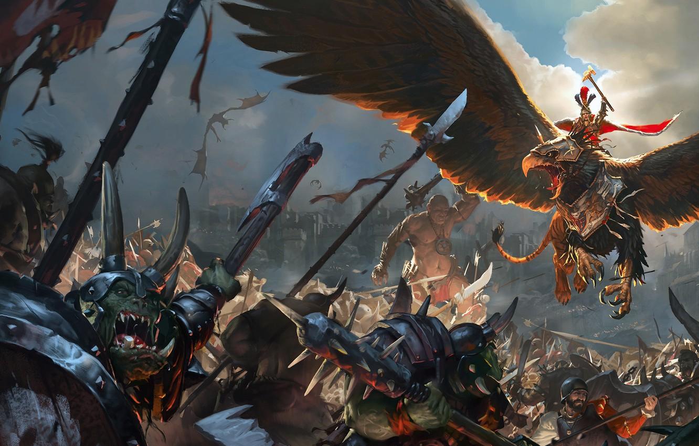 Фото обои game, warhammer, empire, total war, orcs