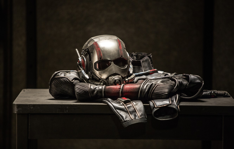 Фото обои костюм, шлем, Марвел, Ant-man, Человек-муравей