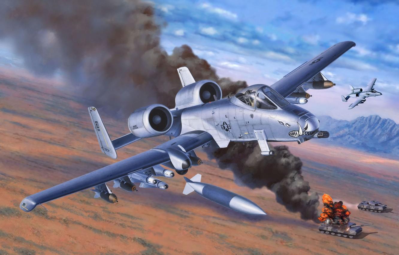 Обои ii, 10, a, thunderbolt, armed. Авиация foto 16
