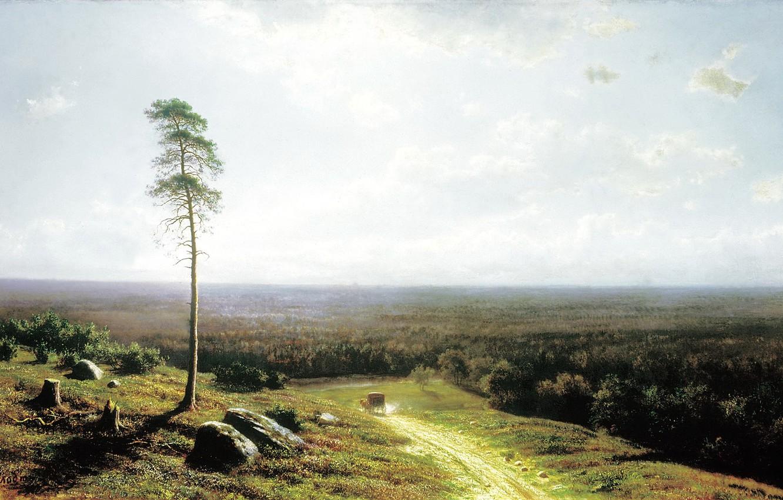 Обои повозка, Ян Брейгель старший, Пейзаж с Путниками, всадник, картина. Разное foto 10