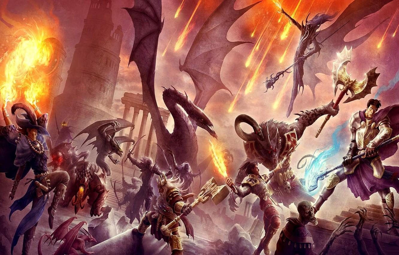 Картинки бой с демонами