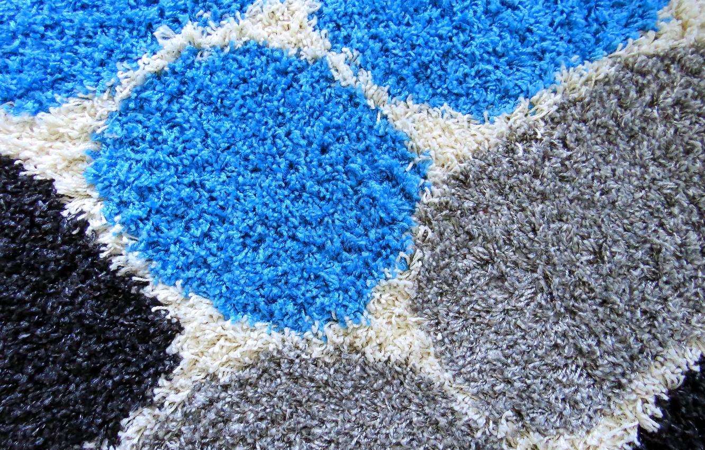 Фото обои белый, синий, серый, черный, круг, шерсть, сфера