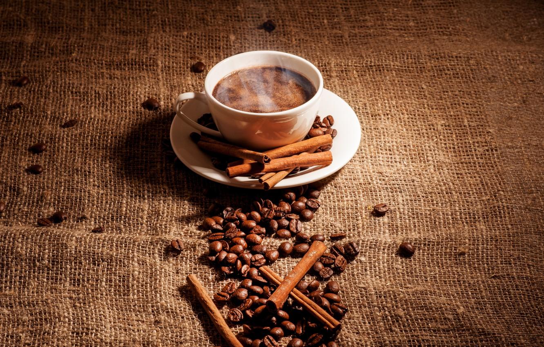 Обои мешок, блюдце, белая, палочки, зерна, кофе. Разное foto 7