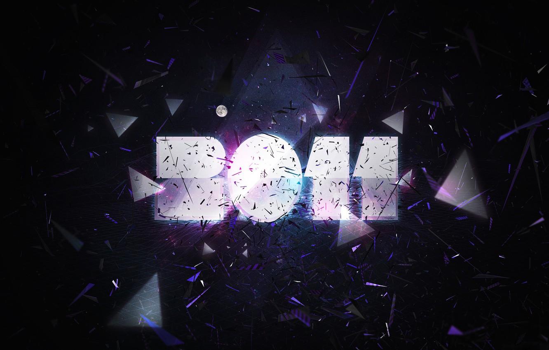 Фото обои текст, надпись, луна, блеск, новый год, wallpaper, 2011