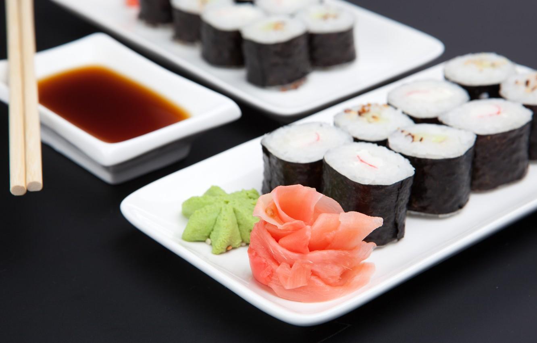 Обои соус, Японская кухня, имбирь. Еда foto 6