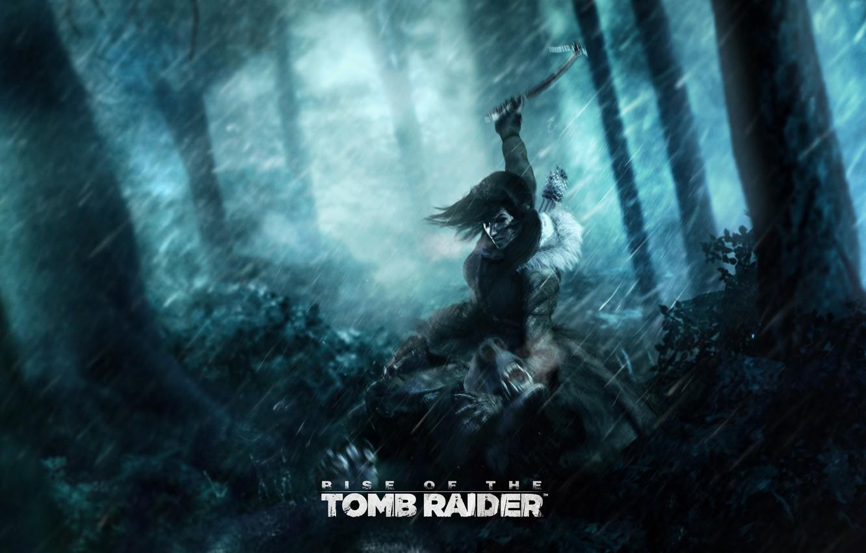 Обои lara croft, tomb raider, Медведь. Игры foto 7