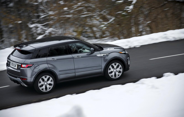 Фото обои дорога, car, машина, снег, скорость, Land Rover, Range Rover, road, Evoque, Autobiography