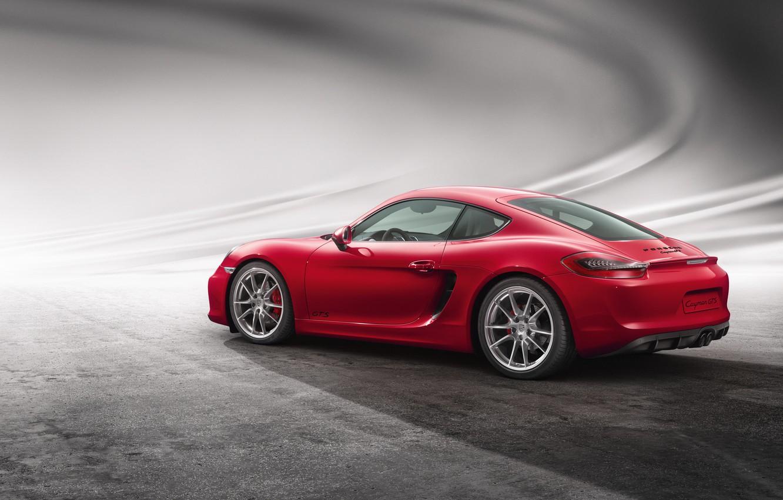 Фото обои Porsche, Cayman, порше, GTS, 2014, кайман